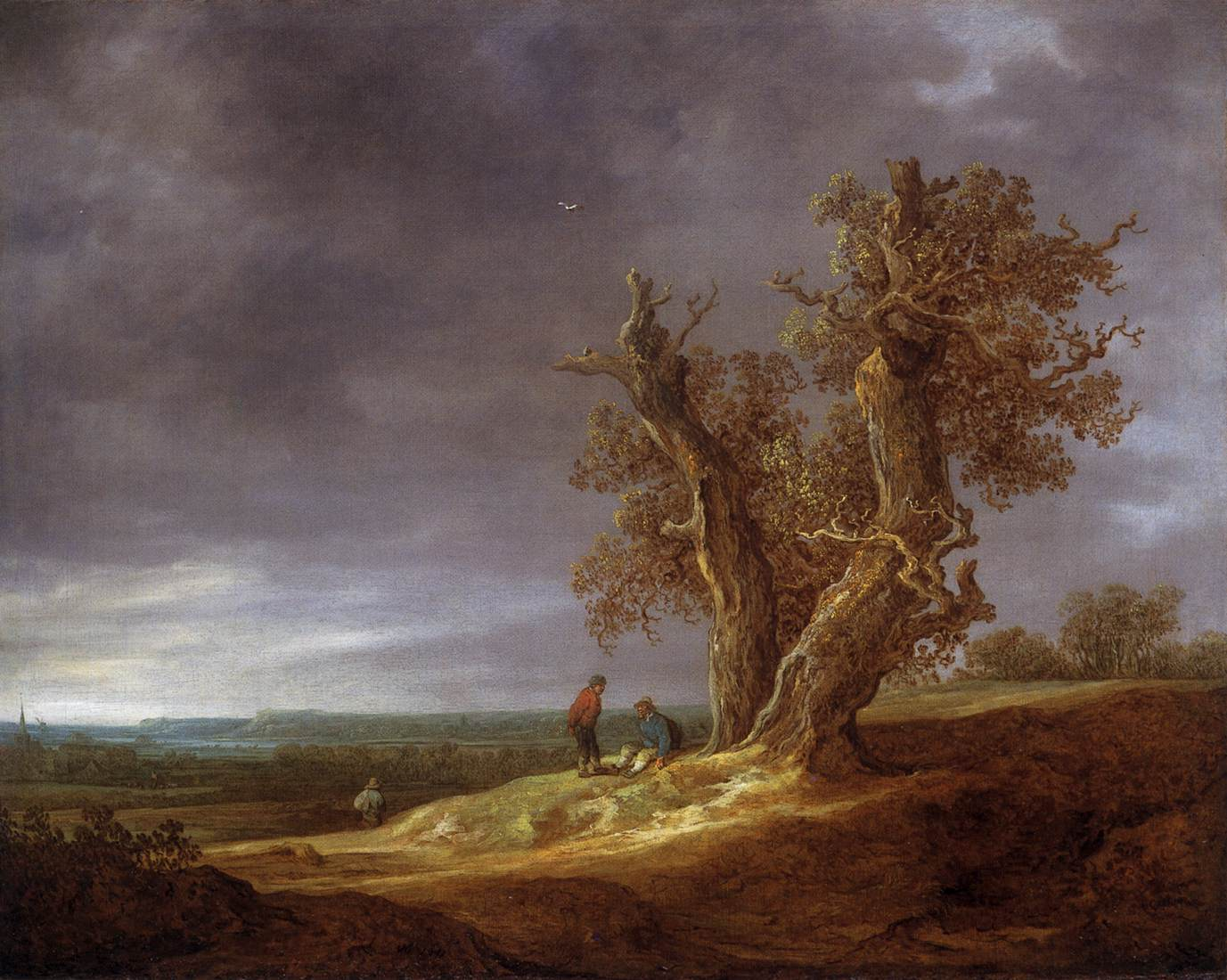Jan van Goyen - Landscape with Two Oaks 1641