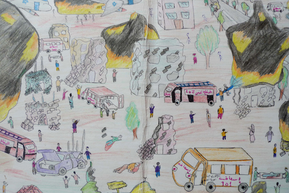 gaza drawing children2