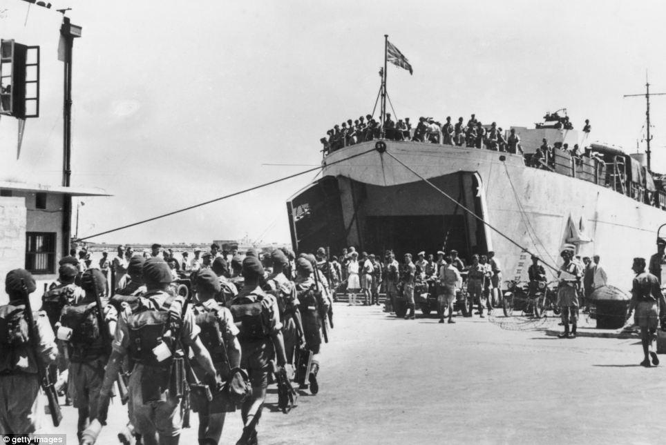 british troops haifa 1948